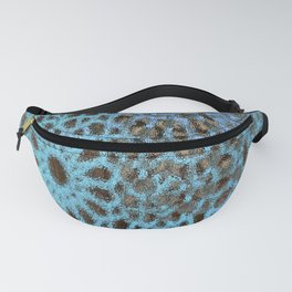 Moroccan Blue Stained Glass effect Fanny Pack
