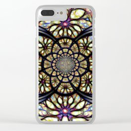 The Art Of Stain Glass Clear iPhone Case