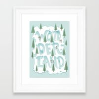 wonderland Framed Art Prints featuring Wonderland by Nick Volkert