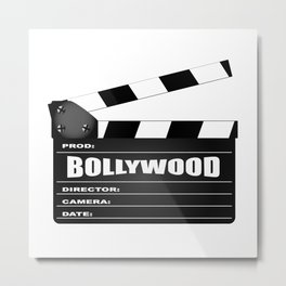 Bollywood Clapperboard Metal Print