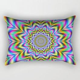 Psychedelic Flower Rectangular Pillow