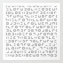 Code Breaker - Abstract, black and white, minimalist artwork by printpix