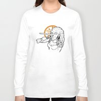 hippy Long Sleeve T-shirts featuring Pinocchio VS Hippy by LullaBy D