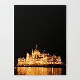 Under the Lights - Budapest Canvas Print