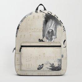 Alice In Wonderland Quote - Imagination Backpack