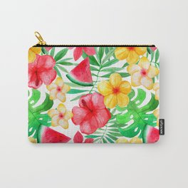 Happy Summer Life- Aloha Flowers and Melon - Pattern Carry-All Pouch