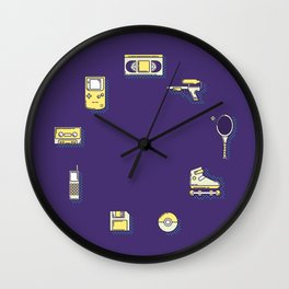 90s Stuff Wall Clock