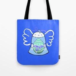 Blue Bell on Blue Tote Bag