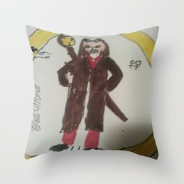 The Time Wizard Throw Pillow