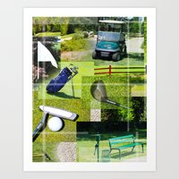golf Art Prints featuring Golf by Andrew Sliwinski