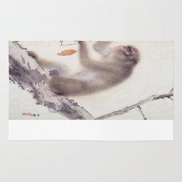 Monkey Vector After Hashimoto Kansetsu Rug