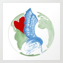 Earth Angel- Love Unearthed Art Print
