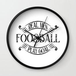 Foosball Goalie Wall Clock