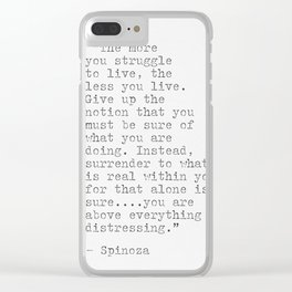 Spinoza Clear iPhone Case