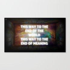 The Way We Go Canvas Print