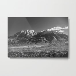 City of Arequipa in Peru with its iconic volcano Chachani Metal Print