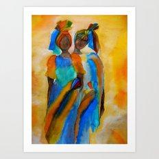 African costumes Art Print
