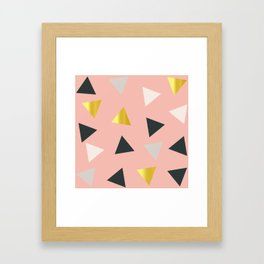 Gold triangles multi Framed Art Print