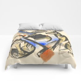 """Franz Marc """"Two Wolves"""" Comforters"""