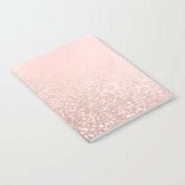 Rose Gold Sparkles on Pretty Blush Pink VI Notebook