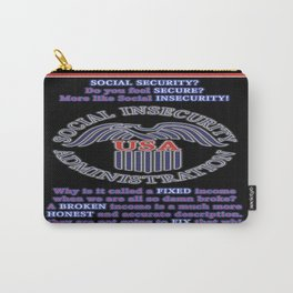 Social INsecurity Carry-All Pouch