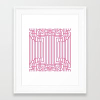 rockabilly Framed Art Prints featuring rockabilly lines by La Señora