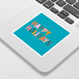 Colorful Happy Holidays Typography Sticker