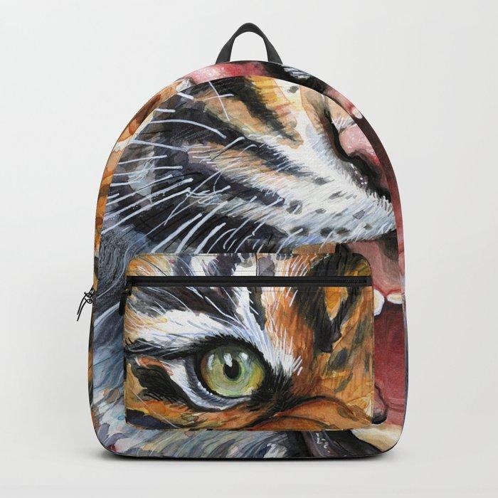 Tiger Roaring Wild Jungle Animal Backpack