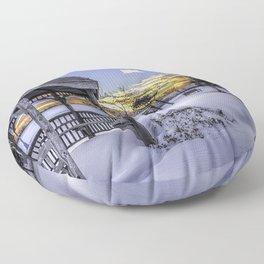 Winter in the Park Floor Pillow