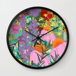 Aromatherapy for the Bees in Spring Teal Green Wall Clock