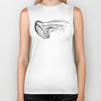 x files Biker Tanks featuring Medusozoa by Edward Blake Edwards