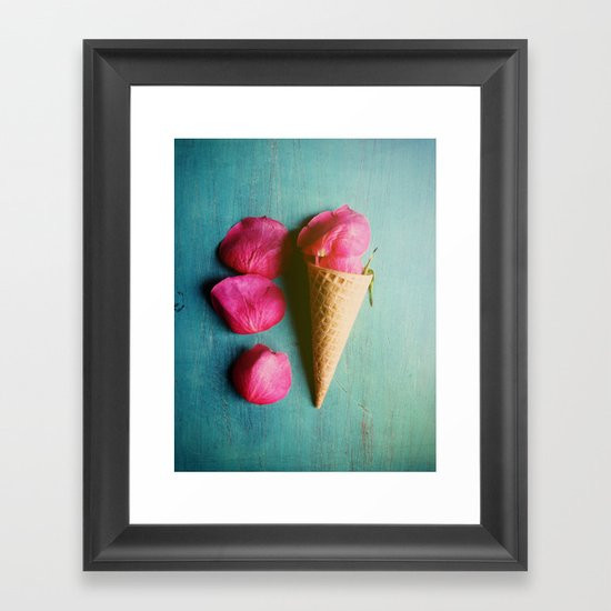 One Scoop or Two Framed Art Print