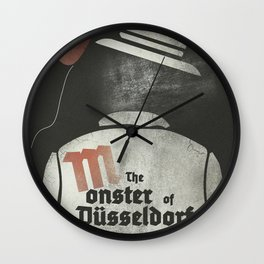 Fritz Lang, M The monster of Düsseldorf, Peter Lorre, minimalist movie, thriller, German film Wall Clock