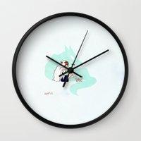 mononoke Wall Clocks featuring Mononoke by Hayley Powers Studio
