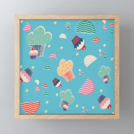 Cupcake blue Framed Mini Art Print