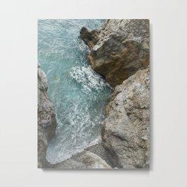 Sea in Praiano Metal Print