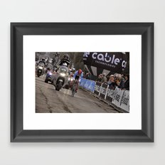 Bike race Framed Art Print