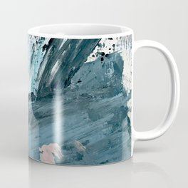 Wilmington: a colorful abstract acrylic piece in pinks and blues Coffee Mug