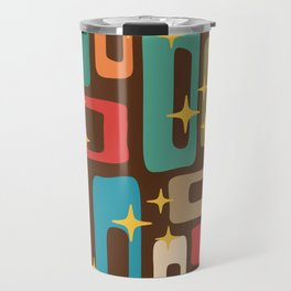 Retro Mid Century Modern Abstract Pattern 222 Travel Mug