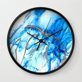 Jellyfish Blues - Abstract Painting Wall Clock