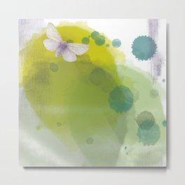 Watercolourfly Metal Print