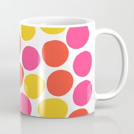 Bunte Punkte 003 / Mid-Century Modern Pattern Of Red, Pink & Yellow Dots Coffee Mug