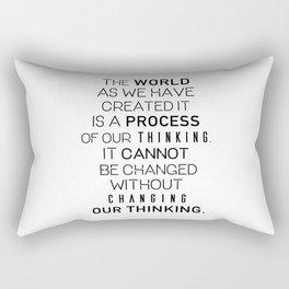 Einstein's quote Rectangular Pillow