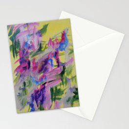 Modern Abstract of Blue and Pink Fun Stationery Cards