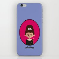 audrey hepburn iPhone & iPod Skins featuring Audrey Hepburn by Juliana Motzko
