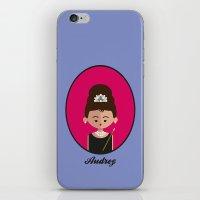 hepburn iPhone & iPod Skins featuring Audrey Hepburn by Juliana Motzko