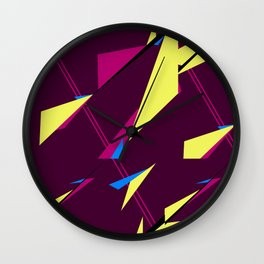 Geometric Zephyr Wall Clock
