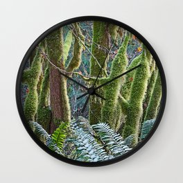 YOUNG RAINFOREST MAPLES Wall Clock