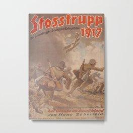 Vintage Germany WWI Movie Poster: Stosstrupp 1917 Metal Print