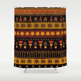 Dark African Pattern Shower Curtain